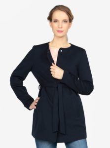 Tmavomodrý kabát s opaskom VERO MODA Mira
