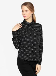 Krémovo-čierna vzorovaná košeľa VERO MODA Nicky