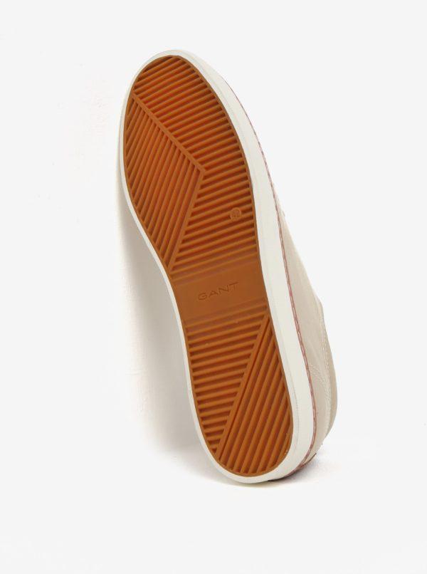 Béžové pánske tenisky s koženými detailmi GANT Bari