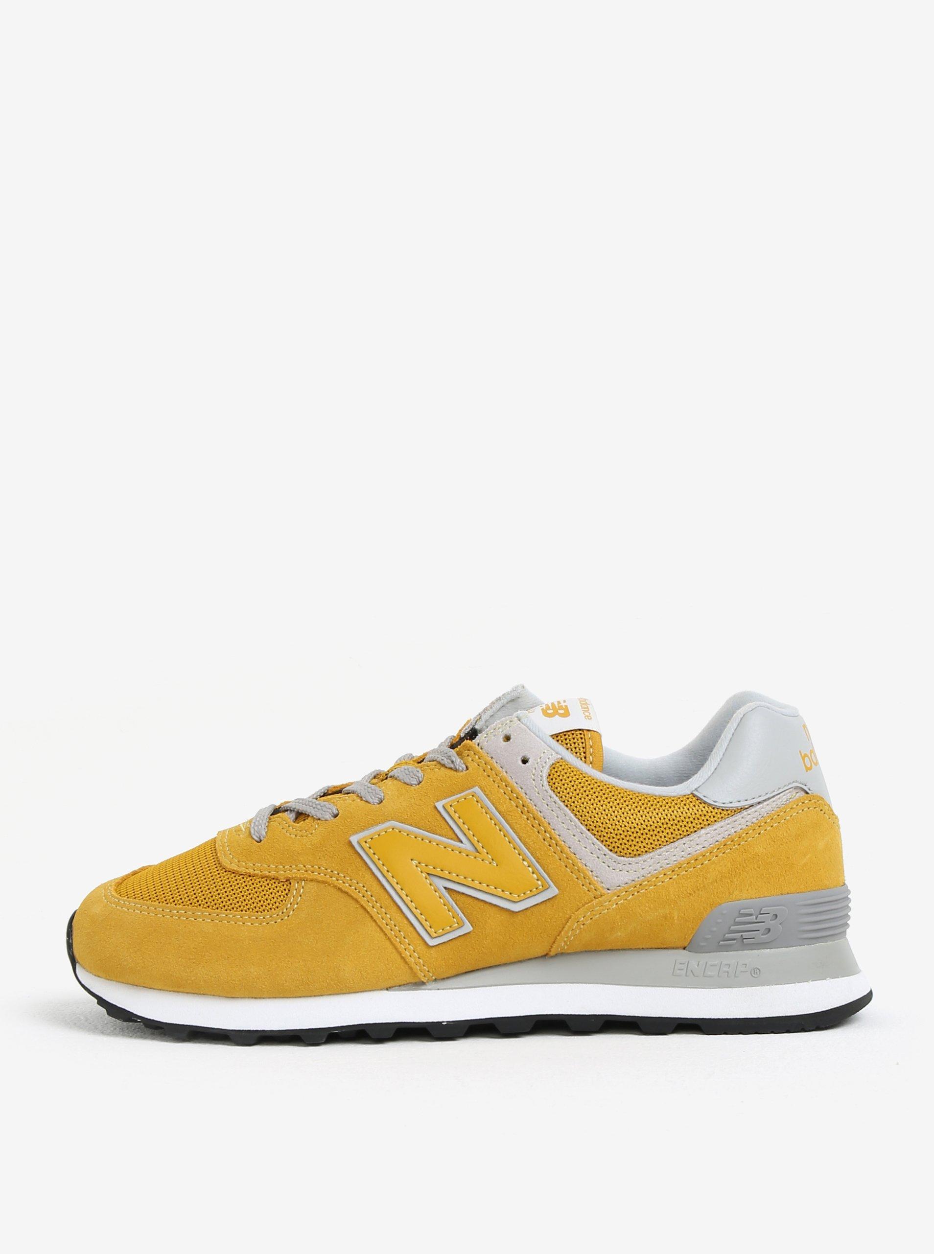 Žlté pánske semišové tenisky New Balance ML574  ad35f2d8746