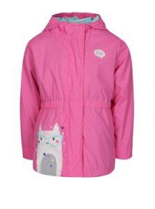 Modro-ružová dievčenská vodovzdorná bunda s odopínateľnou mikinou 2v1 5.10.15.