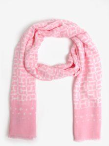 Ružová vzorovaná šatka Tommy Hilfiger