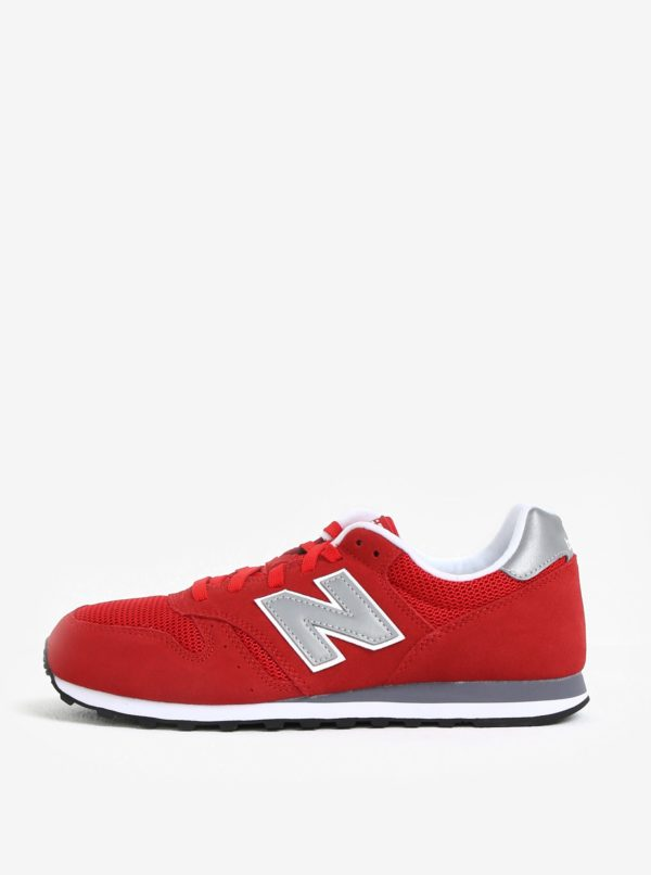 Červené pánske semišové tenisky New Balance ML373