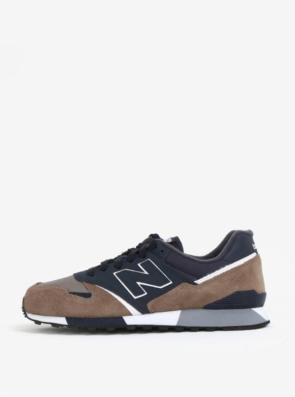 Modro-hnedé páske semišové tenisky New Balance U446