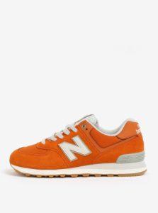 Oranžové pánske semišové tenisky New Balance ML574