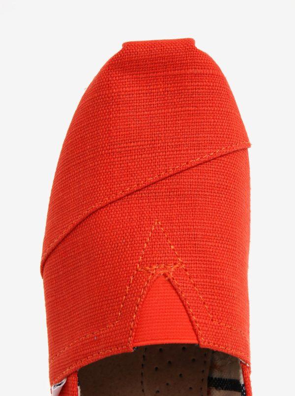 Oranžové pánske slip on TOMS