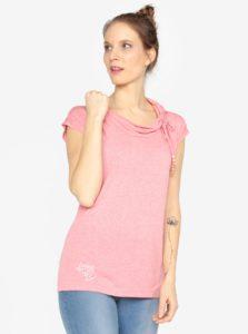 Ružové tričko s krátkym rukávom Ragwear Lorna