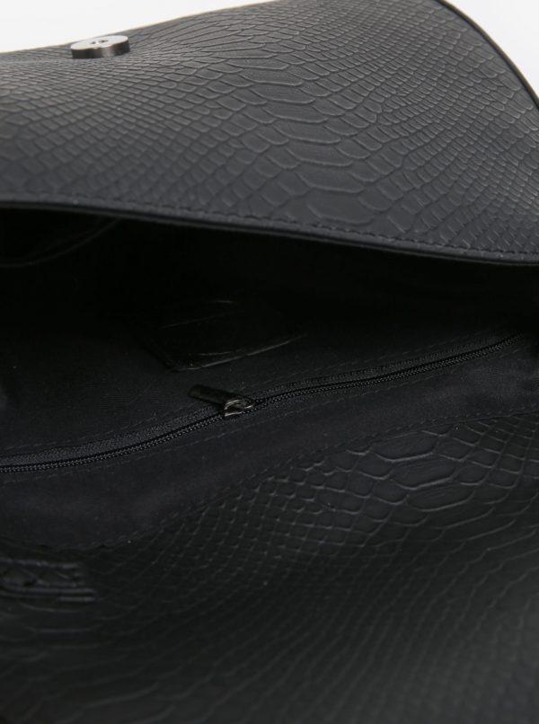 Čierna vzorovaná crossbody kabelka MISSGUIDED