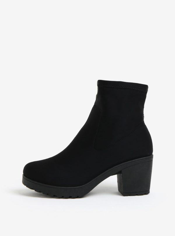 Čierne členkové topánky MISSGUIDED