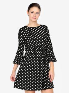 Čierne bodkované šaty AX Paris