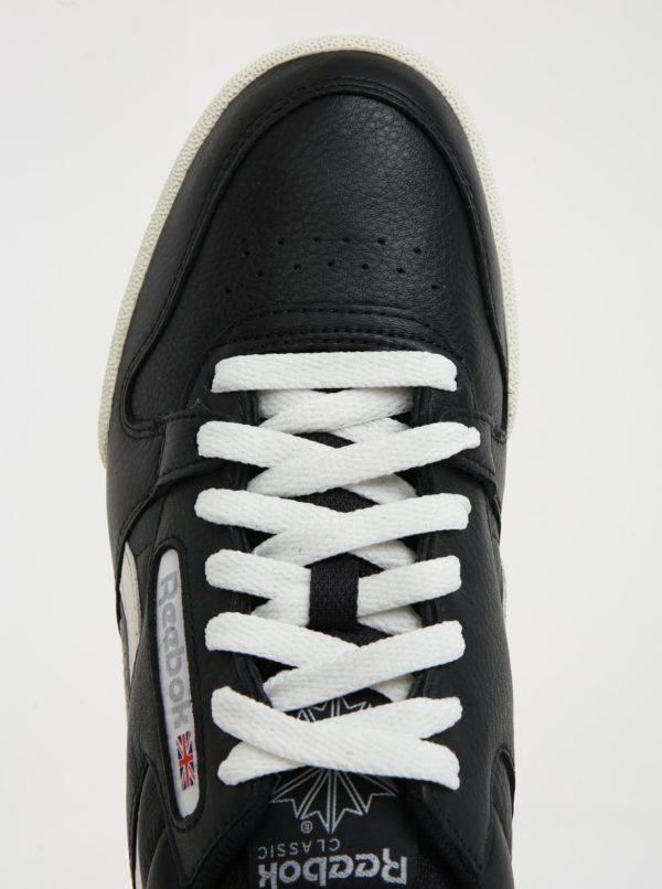 Bielo-čierne pánske kožené tenisky Reebok Phase 1 Pro  dedf34d327e