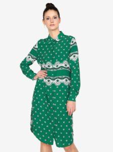 Zelené košeľové šaty MISSGUIDED