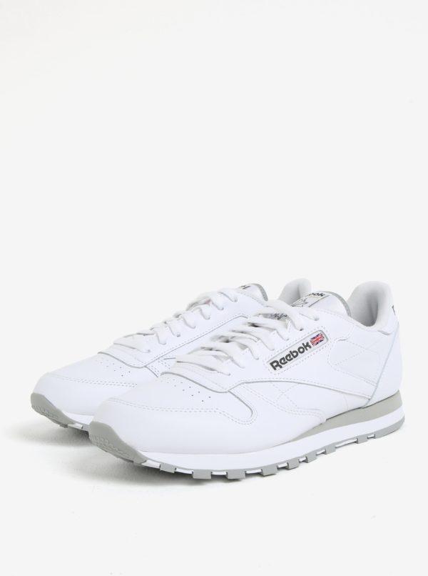 Biele pánske kožené tenisky Reebok