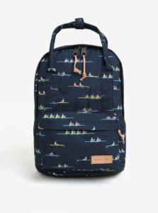 Tmavomodrý vzorovaný batoh Eastpak Break Off Padded Shop´r 15 l