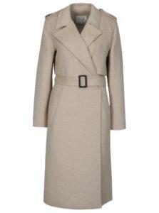 Béžový melírovaný kabát Selected Femme Tana