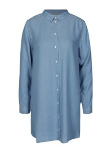 Modrá dlhá košeľa Selected Femme Ines