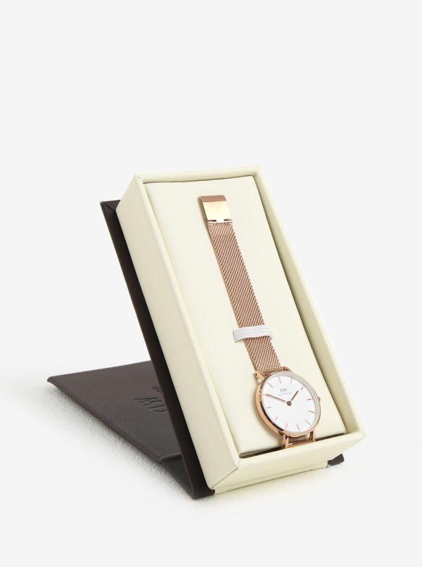 Dámske hodinky v ružovozlatej farbe Daniel Wellington