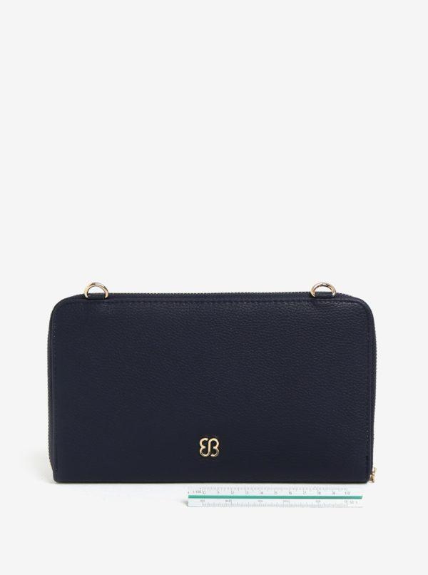 Bielo–modrá listovka s detailmi v zlatej farbe Bessie London
