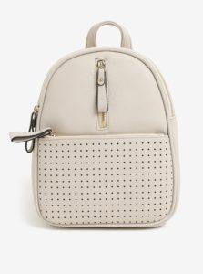 Krémový batoh s perforovanými detailmi Bessie London