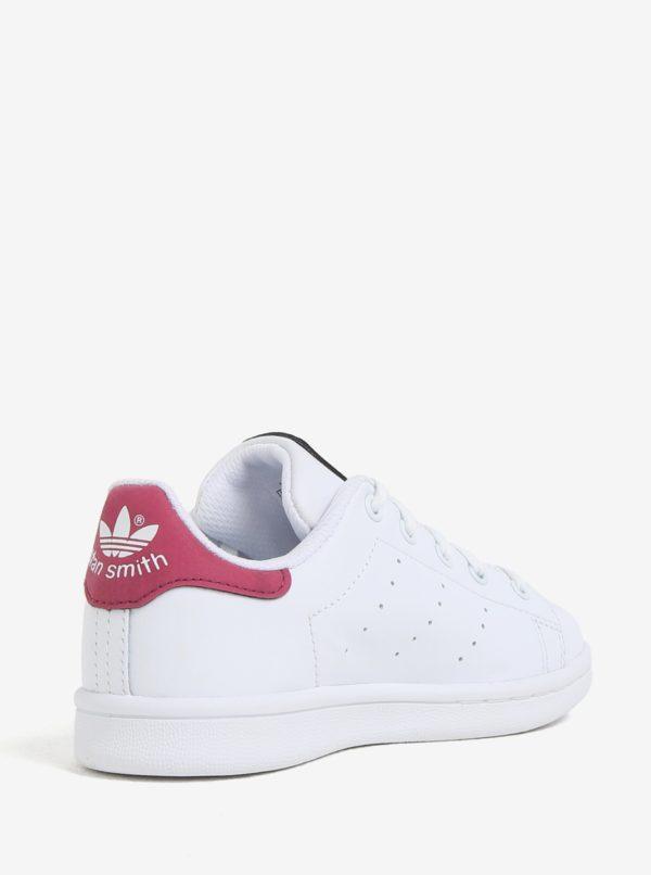 51e1f76ac0dfc Ružovo-biele detské kožené tenisky adidas Originals Stan Smith C ...