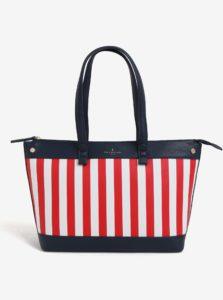 Bielo-červená veľká pruhovaná kabelka Paul's Boutique Olympia