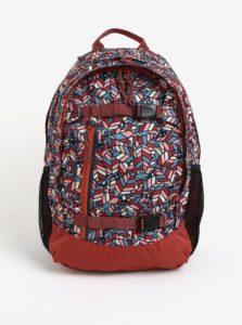 Tehlový dievčenský vzorovaný batoh Burton Youth Day Hiker 20 l