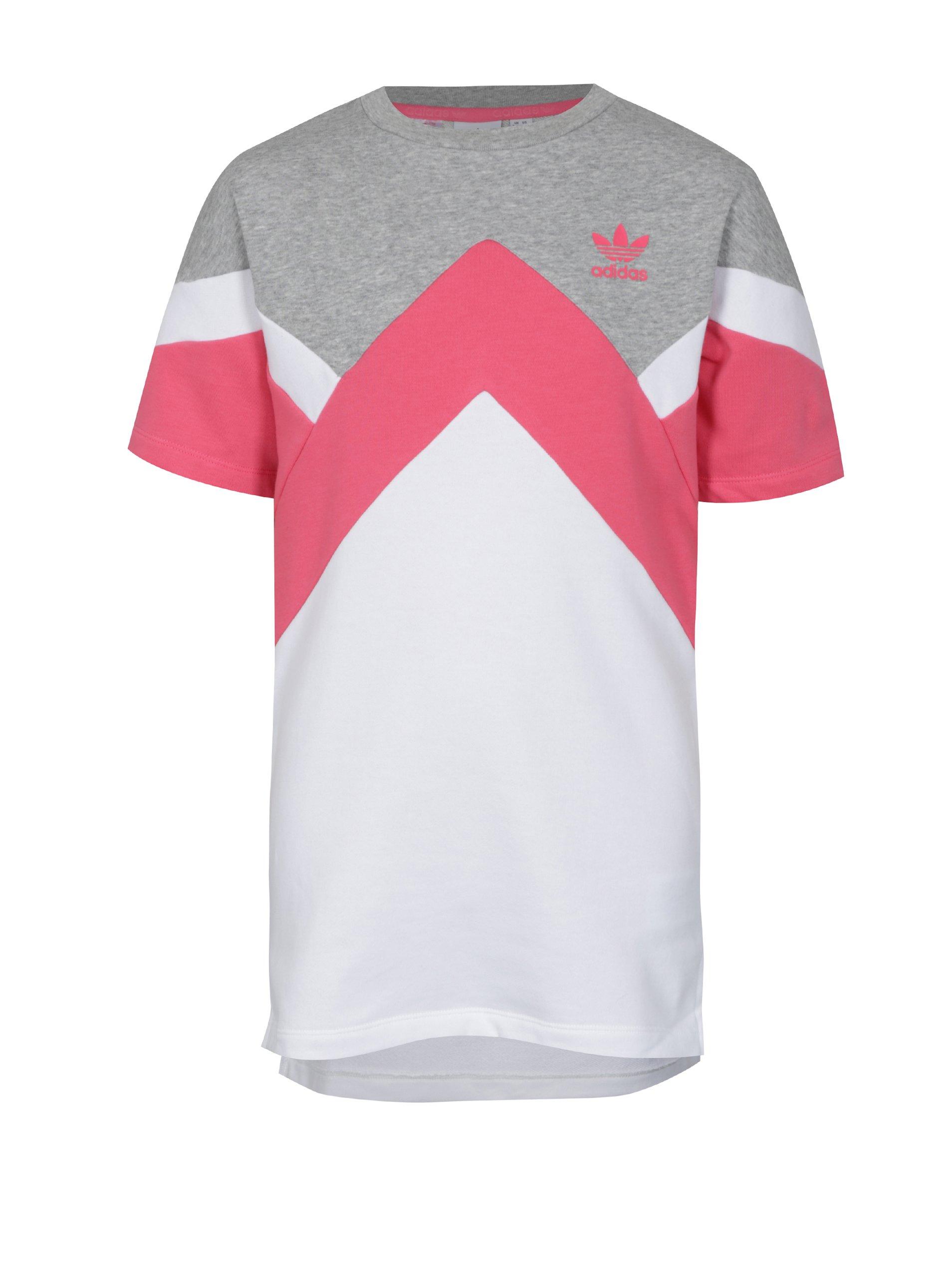 71f0009b0f4e Bielo-ružové dievčenské mikinové šaty adidas Originals J M Ft Hoodie ...