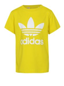 Žlté detské tričko s bielou potlačou adidas Originals