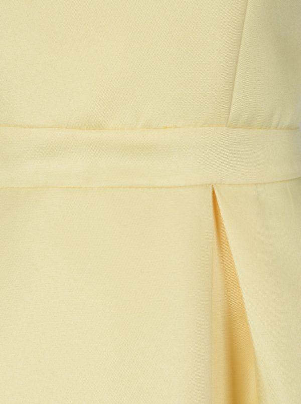 e6bcdf213b02 Žlté šaty s čipkou na chrbte Chi Chi London Noelie