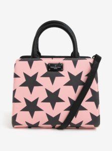 Sivo-ružová vzorovaná kabelka Paul's Boutique Logan