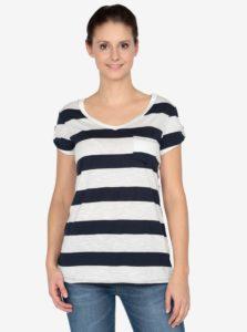 Krémovo-modré tričko s krátkym rukávom Haily´s Helen