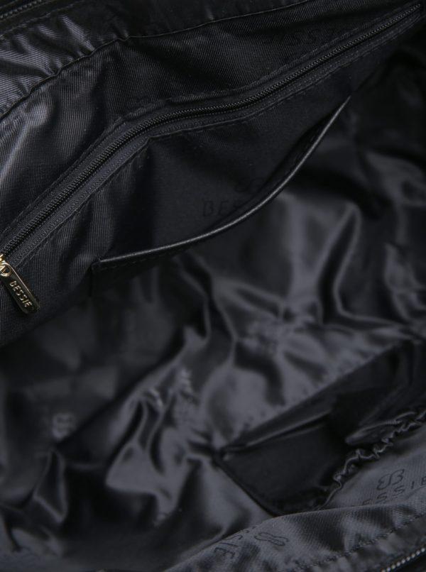 Krémovo–čierny shopper s aztéckym vzorom Bessie London