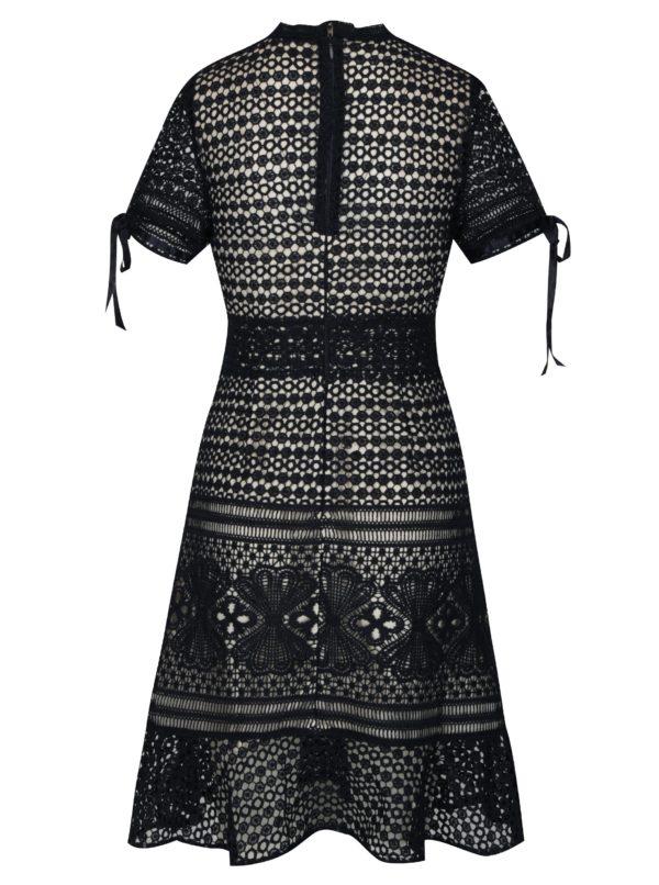 Krémovo-modré čipkované šaty Chi Chi London Asenia