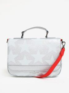 Crossbody kabelka v striebornej farbe s červeným popruhom Paul's Boutique Nicole