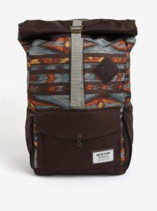 Hnedý vzorovaný batoh Burton Export 25 l