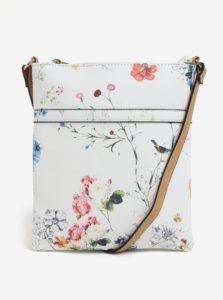Biela kvetovaná crossbody kabelka Bessie London