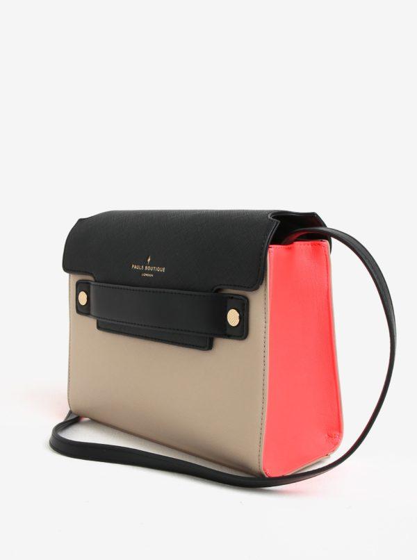 Čierno-béžová kabelka cez rameno Paul's Boutique Nancy