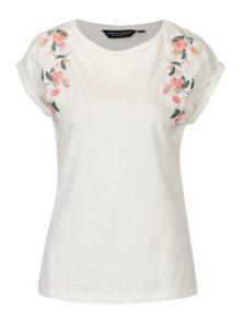 Krémové tričko s výšivkami Dorothy Perkins