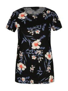 Čierne kvetované tričko Dorothy Perkins