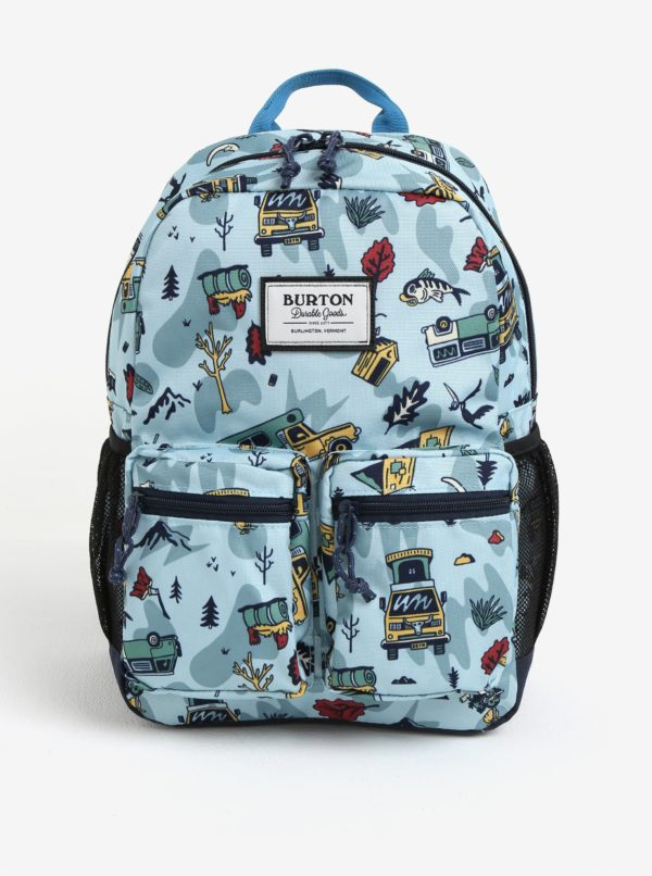Svetlomodrý chlapčenský vzorovaný batoh s vreckami Burton Youth Gromlet 15 l