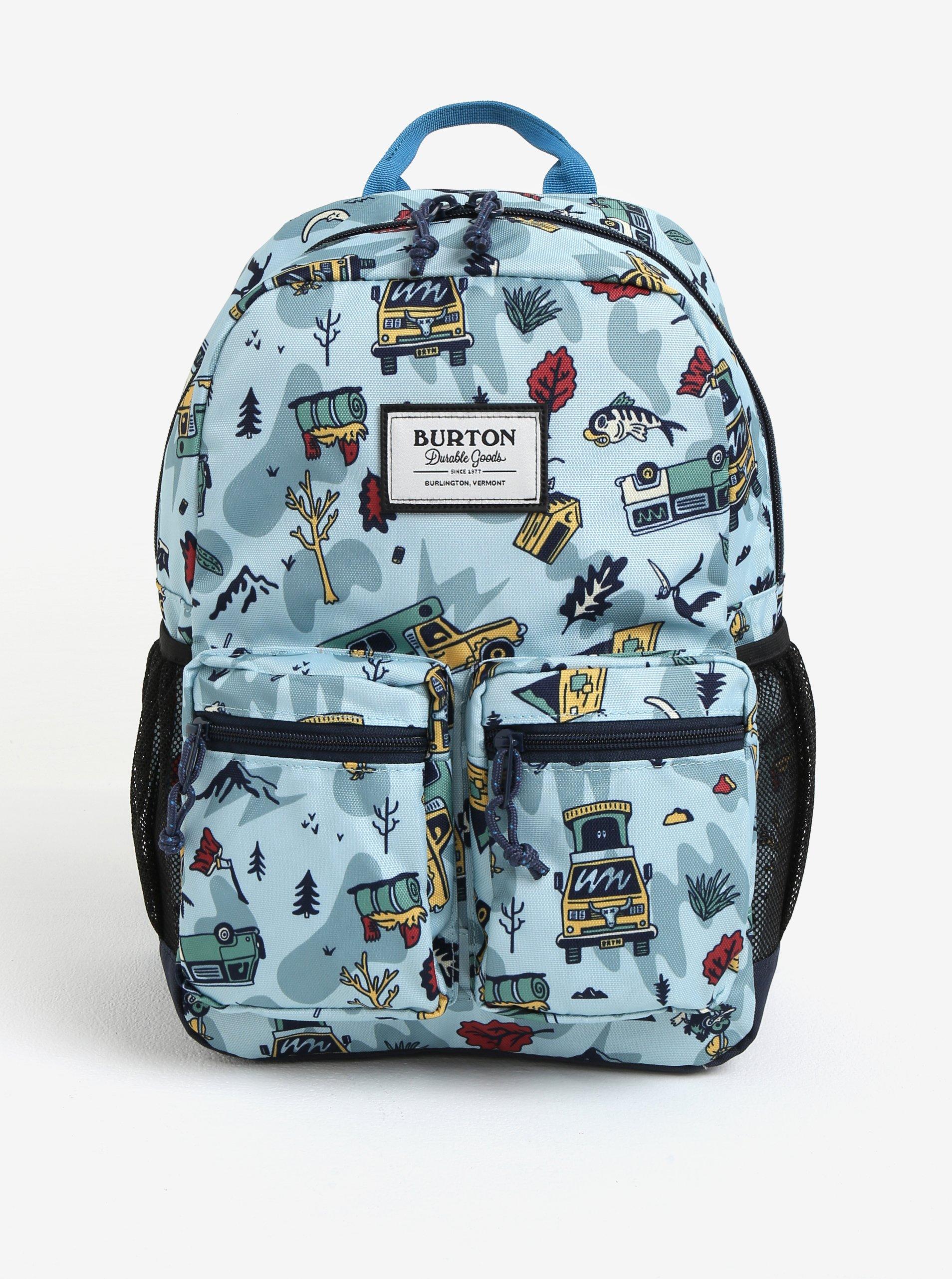 63add6b9a Svetlomodrý chlapčenský vzorovaný batoh s vreckami Burton Youth Gromlet 15 l