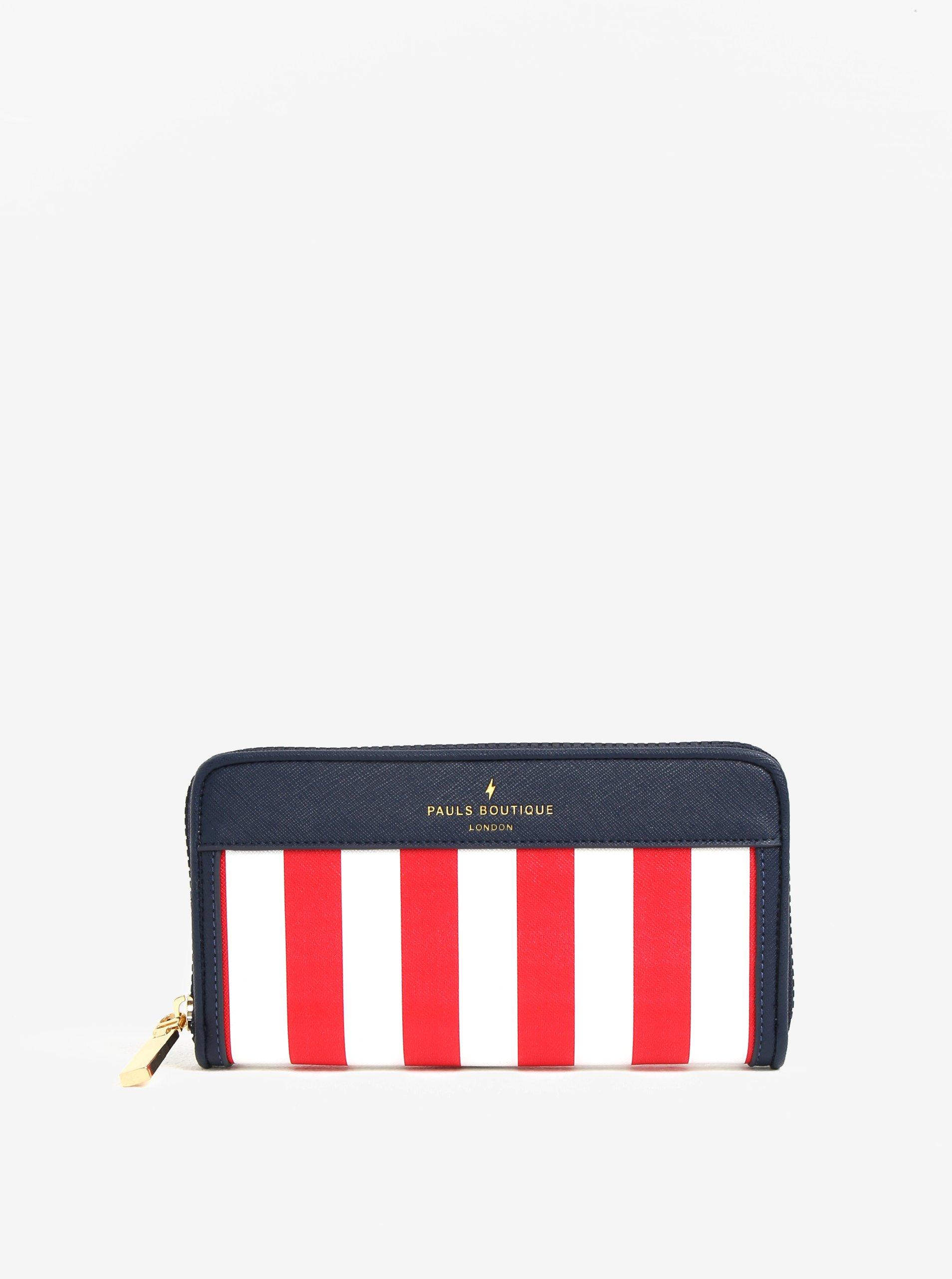 b5a4be5758 Bielo-červená pruhovaná peňaženka Paul s Boutique Lizzie