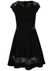 f32955697ea2 Čierne šaty s čipkovanými detailmi TALLY WEiJL