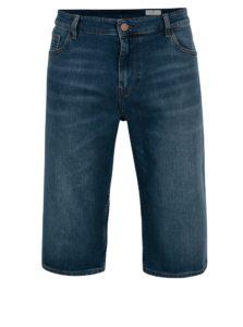 Modré pánske regular rifľové kraťasy Cross Jeans