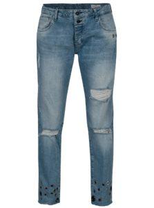 Modré dámske boyfriend rifle Cross Jeans