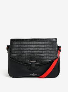 Čierna kabelka cez rameno s ozdobnou chlopňou Paul´s Boutique Gillian
