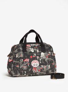 Čierna vzorovaná cestovná taška Blutsgeschwister
