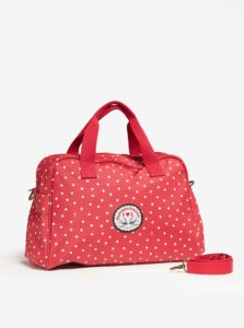 Červená vzorovaná cestovná taška Blutsgeschwister