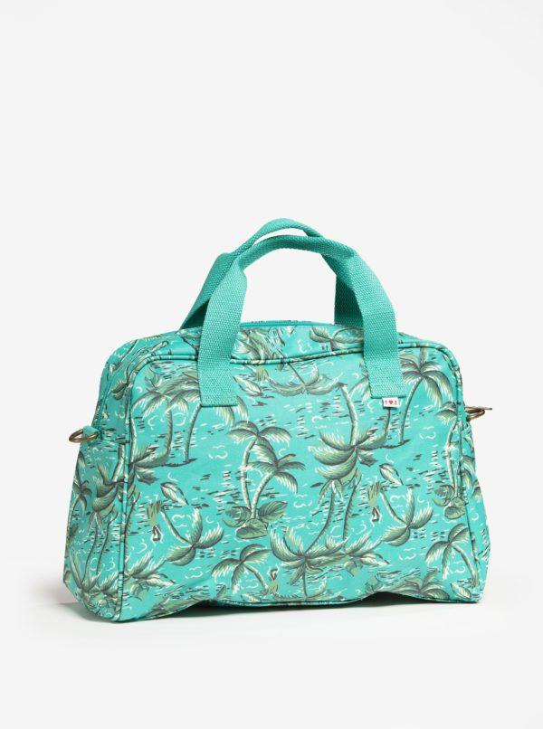 Tyrkysová vzorovaná cestovná taška Blutsgeschwister