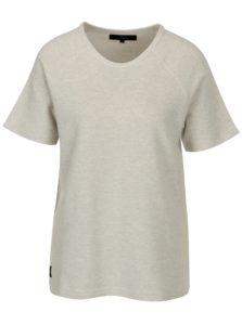 Béžovo-sivé dámske vzorované tričko Makia